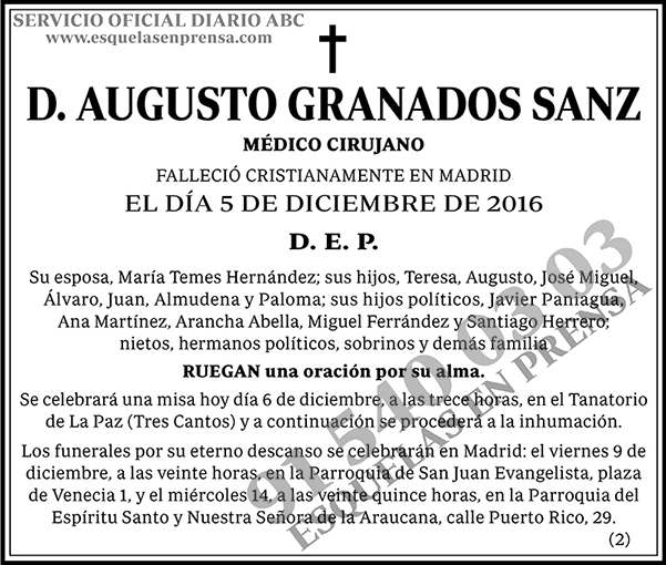 Augusto Granados Sanz